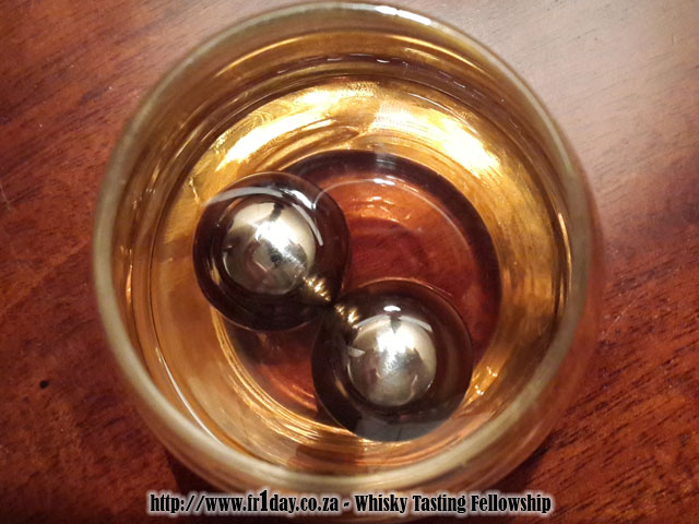 Balls of Steel in glass with whisky