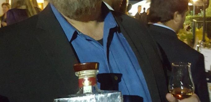 Dave Pickerell proudly sharing his Hillrock Distillery Solera Bourbon
